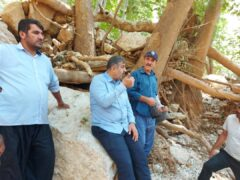 تلاش برای پایداری آب و برق در طسوج/حاجی زاده :استاندار برای جبران خسارات به جد پای کار است